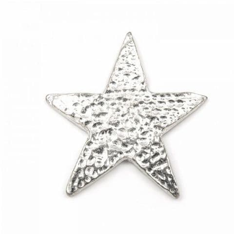 Dimpled Star - Pewter Jacket, Lapel or Coat Pin